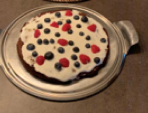 Gezonde brownietaart met topping (8 st)